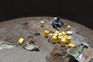 The Water Project:  Digging Holes For Erecting The Pillars