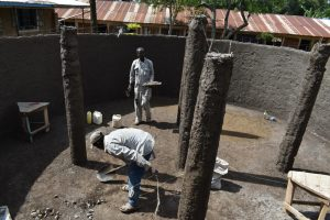 The Water Project:  Plastering The Pillars