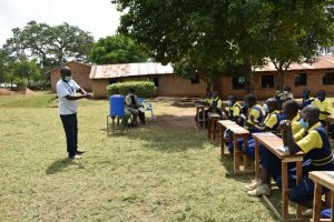 The Water Project:  Facilitator Leads The Handwashing Session