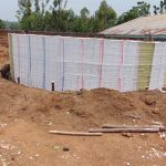 The Water Project: Kitambazi Primary School -  Sugar Sacks In Place Ready For Plastering