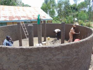 The Water Project:  Plastering The Inside