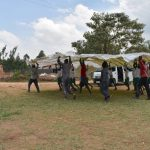The Water Project: Kitambazi Primary School -  Moving The Dome Frame