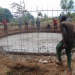 The Water Project: Kitambazi Primary School -  Setting The Frame In Place