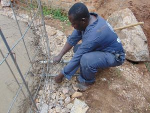 The Water Project:  Placing The Drawing Point Pipes