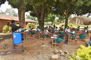 The Water Project:  Leading The Handwashing Exercise