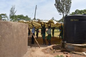 The Water Project:  Lifting The Dome Frame