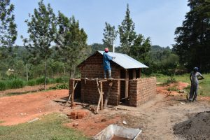 The Water Project:  Roofing The Latrine