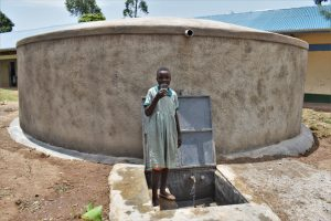 The Water Project:  A Pupil Drinking Water From The Water Point