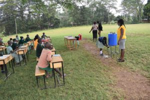The Water Project:  A Pupil Shows Handwashing