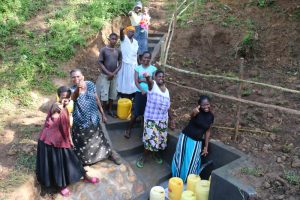 The Water Project:  Water Users Of Lubale Spring Cheering With Joy