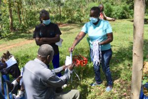 The Water Project:  Providing New Masks To Training Participants