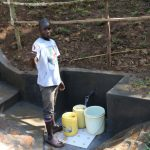 The Water Project: Emutetemo Community, Lubale Spring -  Thumbs Up For Clean Water