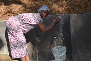 The Water Project:  Fatuma Splashing Water