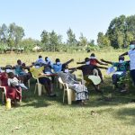 The Water Project: Mushikulu B Community, Olando Spring -  Participants Demonstrating Physical Distancing