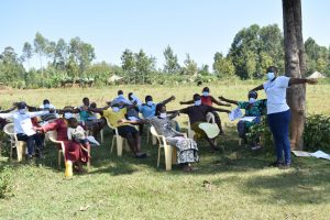 The Water Project:  Participants Demonstrating Physical Distancing