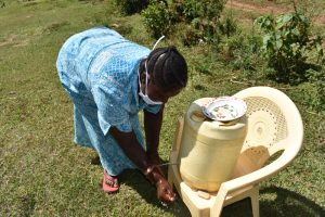 The Water Project:  Peletina Oloyo Rinsing Hands