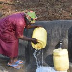 The Water Project: Mushikulu B Community, Olando Spring -  With Two Pipes You Can Rinse And Fetch At The Same Time