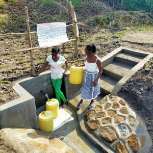 The Water Project:  Ashuma Spring Is Busy And Changing Life
