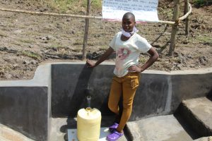 The Water Project:  Isabella At The Completed Spring