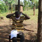 The Water Project: Mabanga Community, Ashuma Spring -  Putting On Masks