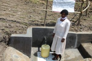 The Water Project:  Selpha Nyakoa At The Completed Spring