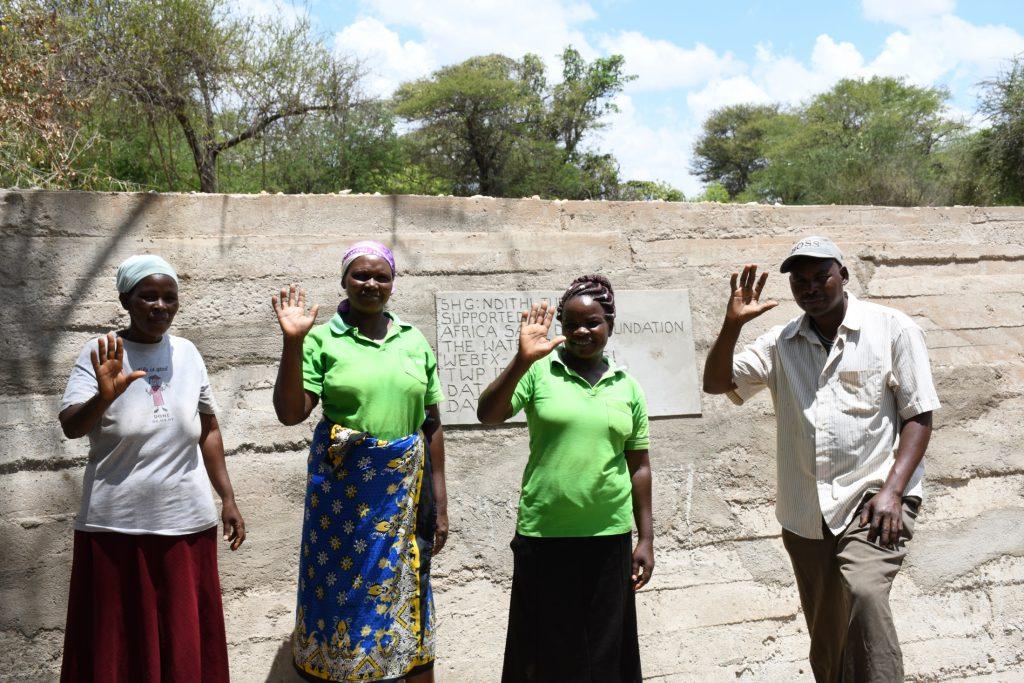 The Water Project : kenya21408-community-members-at-their-dam