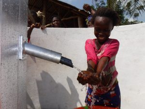 The Water Project:  Child At The Complete Well