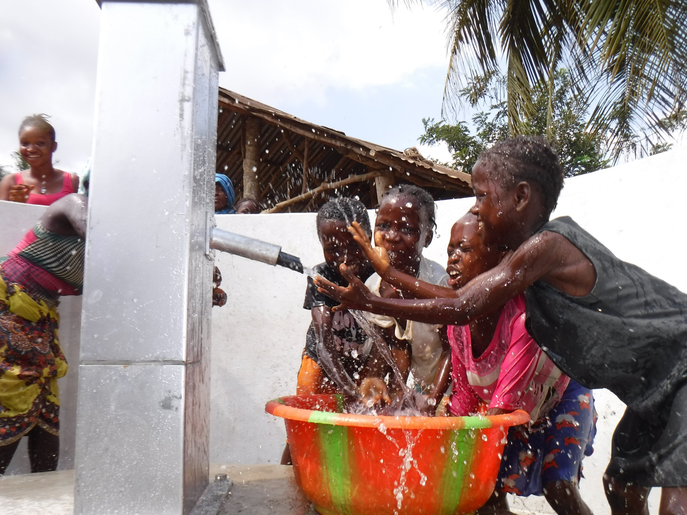 The Water Project : sierraleone20420-kids-celebrate-at-the-well
