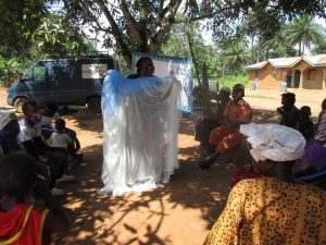 The Water Project:  Mosquito Net Demonstration