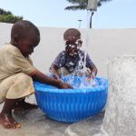 The Water Project: Lungi, Suctarr, #47 Kamara Street -  Kids Celebrating