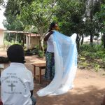 The Water Project: Lungi, Suctarr, #47 Kamara Street -  Mosquito Net Demonstration