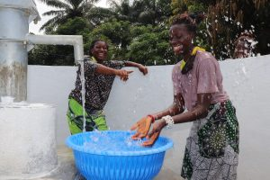 The Water Project:  Women Splash At The Well