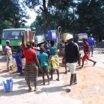 The Water Project: Lokomasama, Satamodia Village -  Community Members Fetching Water For Drilling