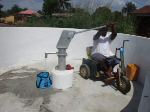 The Water Project:  Chair Tests The New Well