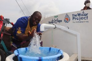 The Water Project:  Chairman Splashes Clean Water
