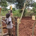 The Water Project: Alero B Community -  Fetching Water At The New Well