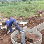 The Water Project: Alero B Community -  Working On Apron And Drain For Well