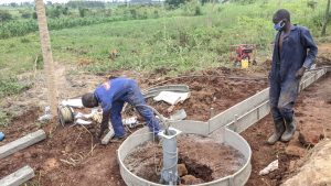 The Water Project:  Working On Apron And Drain For Well