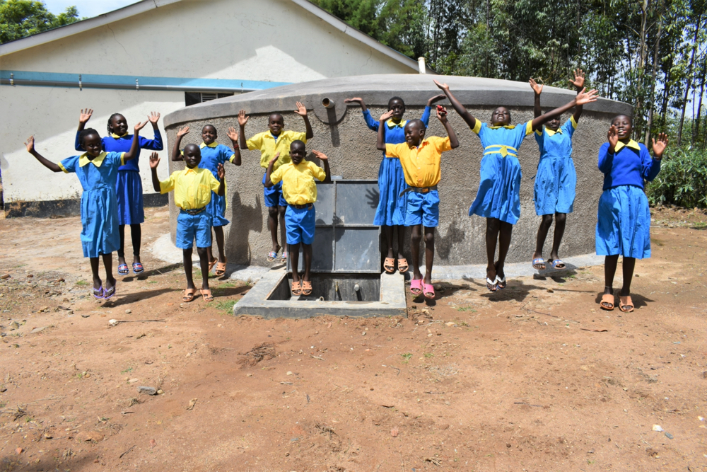 The Water Project : kenya21220-students-jump-for-joy-2