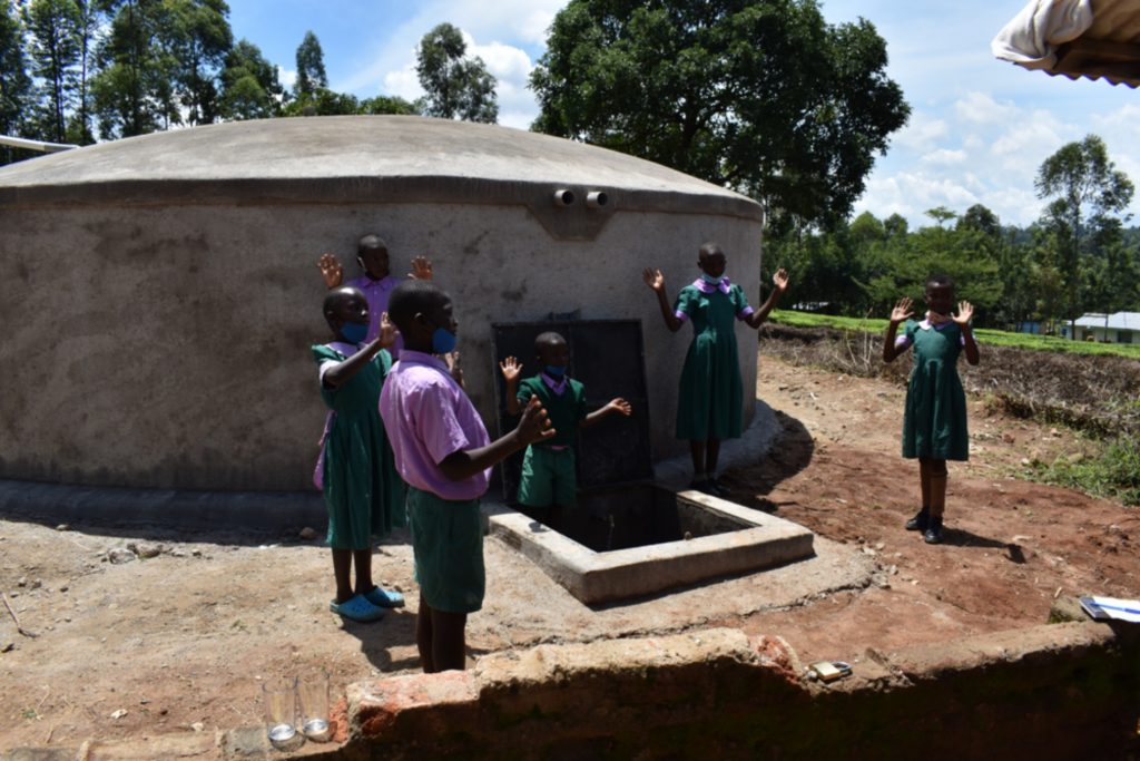 The Water Project : kenya21230-students-celebrating-water-1