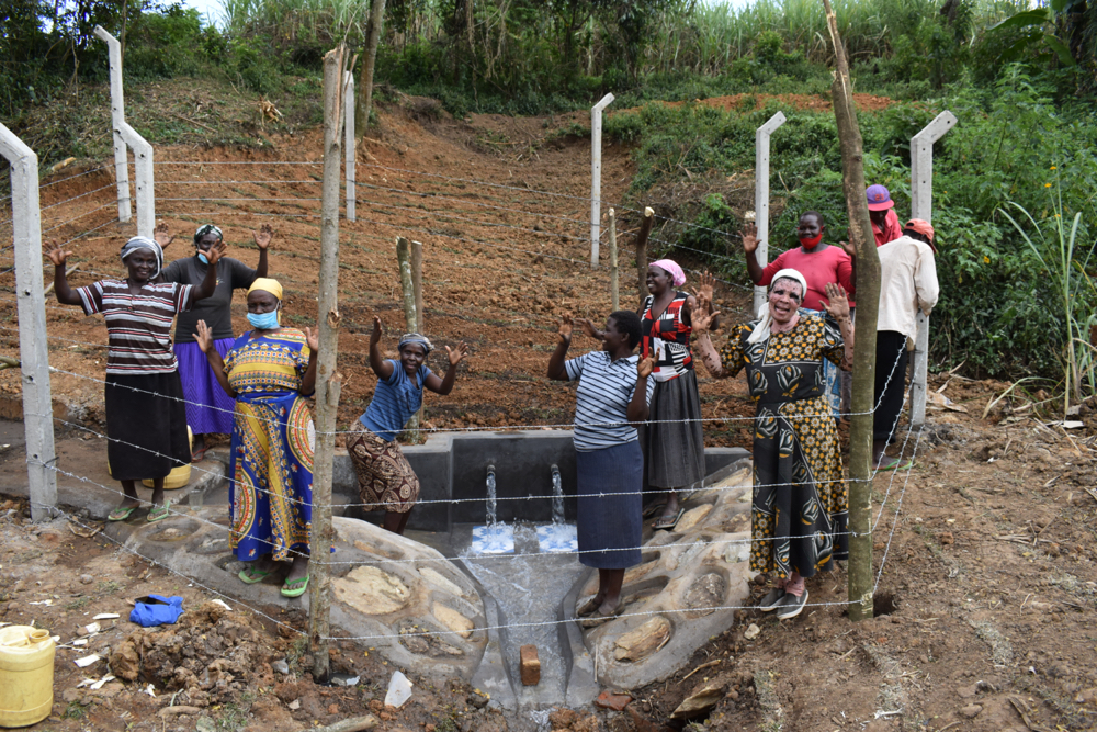 The Water Project : kenya21010-women-celebrate-the-spring
