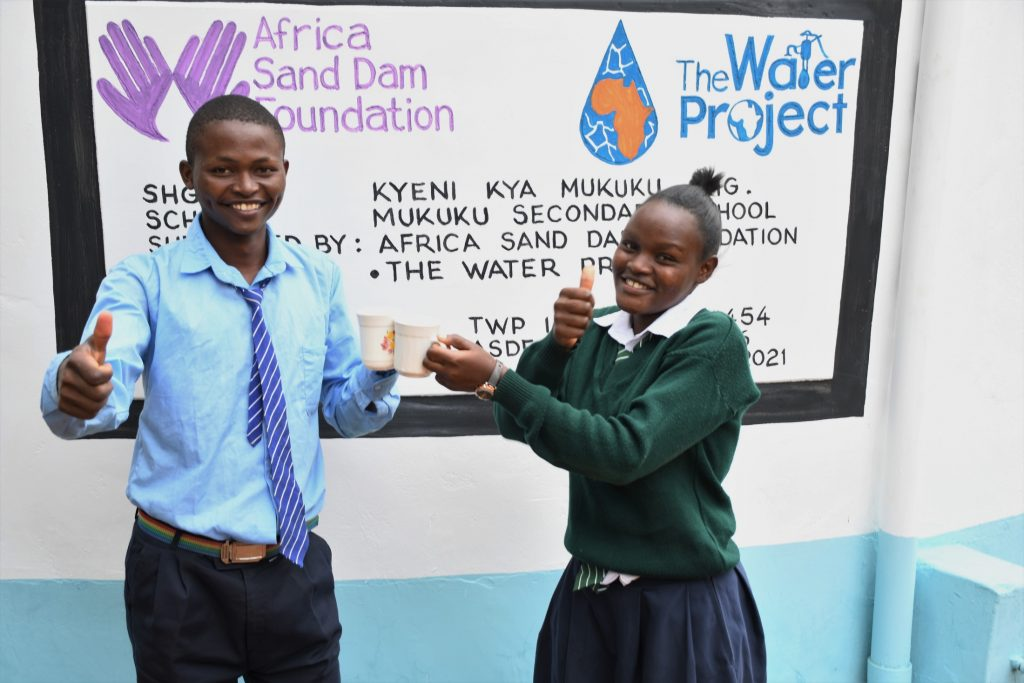 The Water Project : kenya21454-cheers