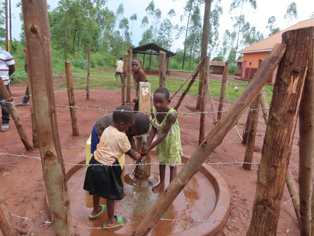 The Water Project : uganda21601-children-play-at-the-well