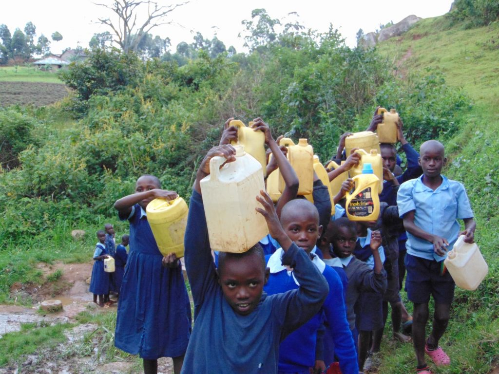 The Water Project : 20-kenya20132-students-carrying-water-4-2