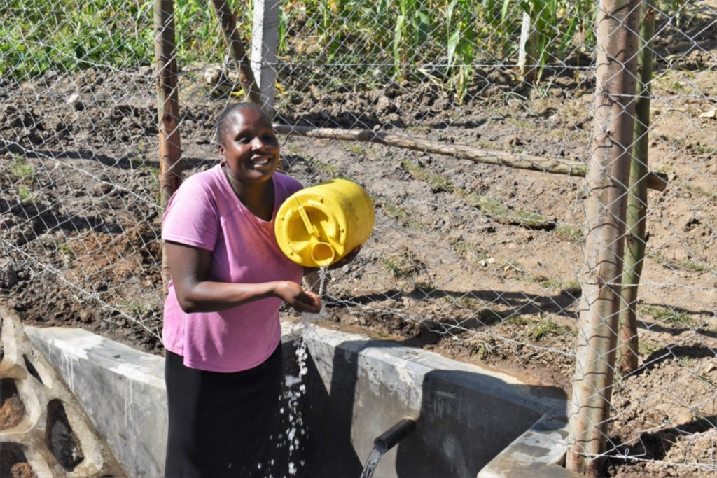 The Water Project : kenya21005-all-smiles-at-the-waterpoint-4