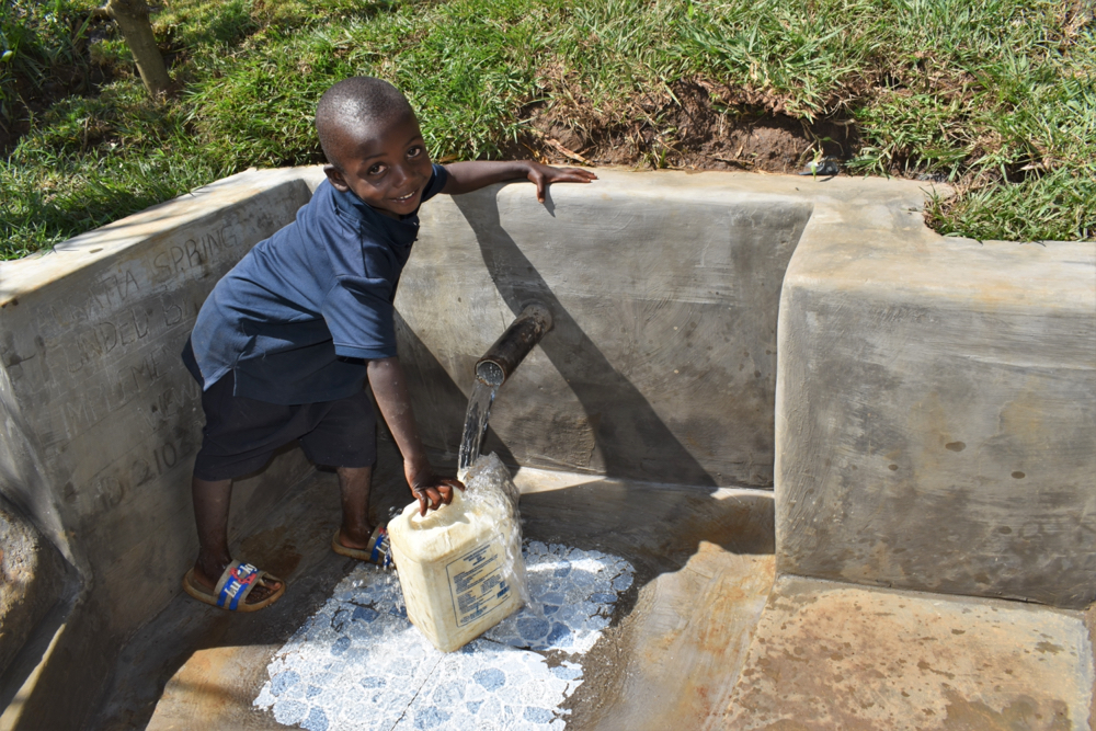 The Water Project : kenya21030-all-smiles-at-the-waterpoint-4