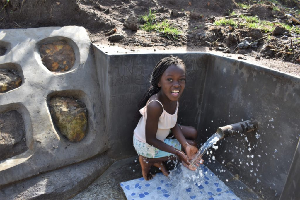 The Water Project : kenya21055-celebrating-at-the-water-point-4