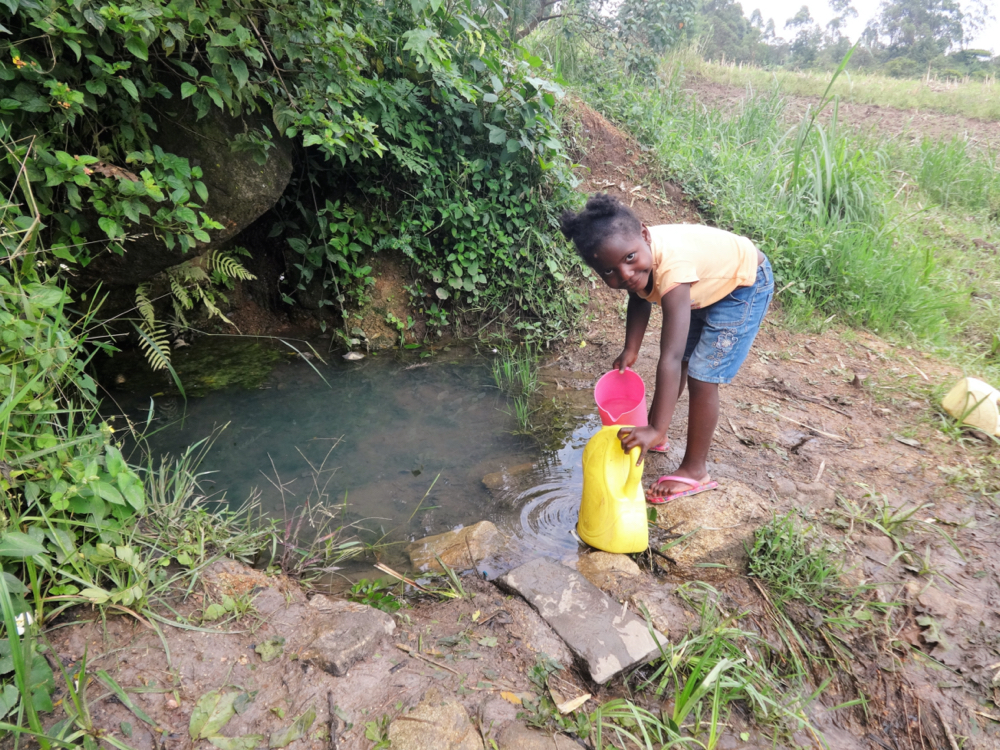 The Water Project : kenya21065-collecting-water-4-2