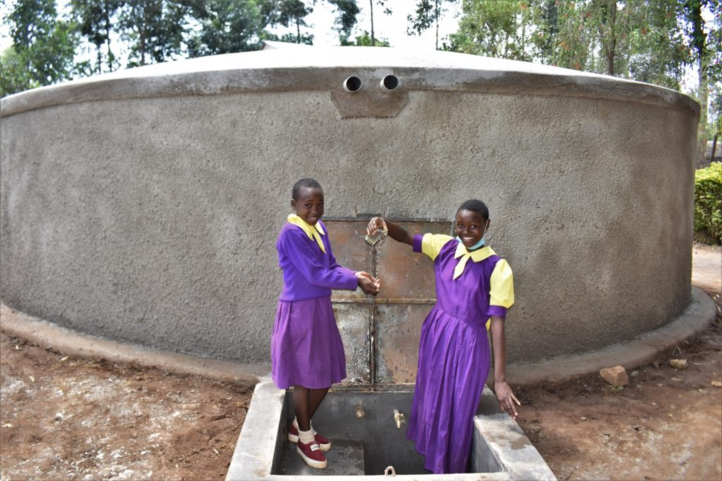 The Water Project : kenya21204-children-playing-with-water-1