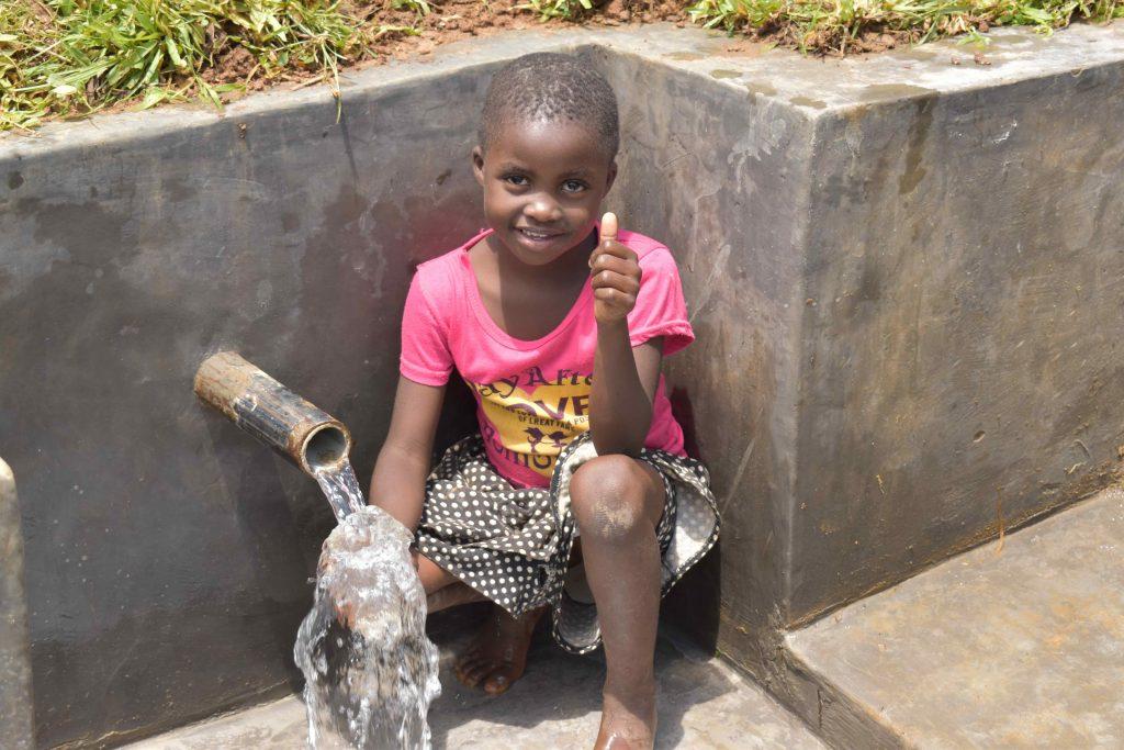 The Water Project : kenya21049-0-enjoying-water-5